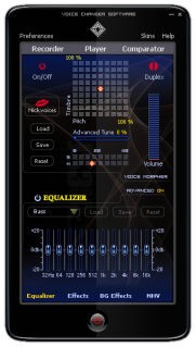 Main Panel of Voice Changer Software