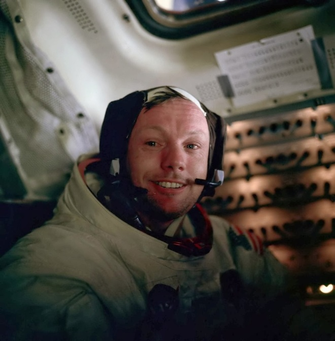 Neil Armstrong after his Moonwalk
