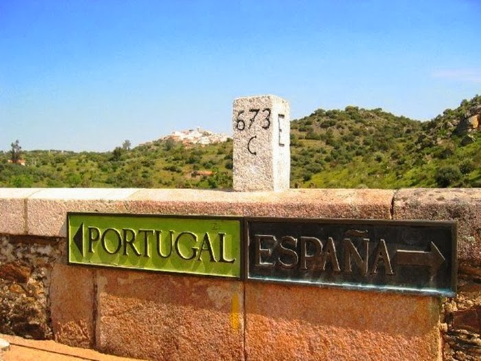 Portugal and Spain Country Border Mark